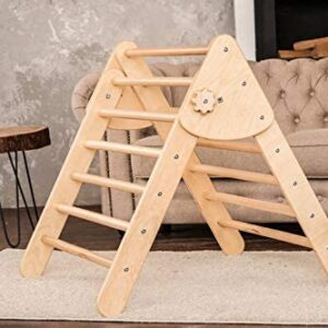 Triangle Wooden Climbing Ladder for Toddlers