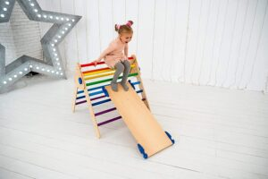 Set of 3 Pikler Triangle Climbing Arch Toy for Kids